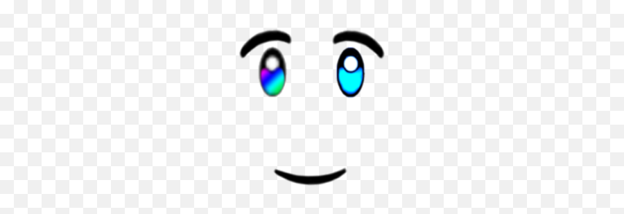 Vampire Half Rainbow Eyes Smile Face - Roblox Vampire Face Eyes Emoji,Half Smile Emoticon