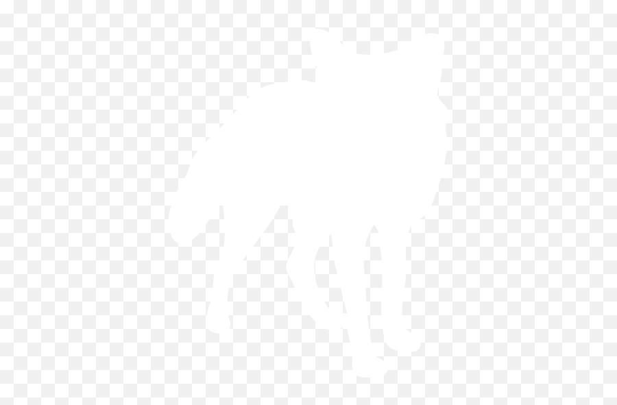 White Fox Icon - Free White Animal Icons Transparent White Fox Silhouette Emoji,Fox Emoticon
