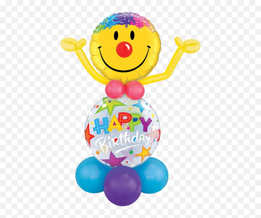 Birthday Bubble Buddy - Smiley Emoji
