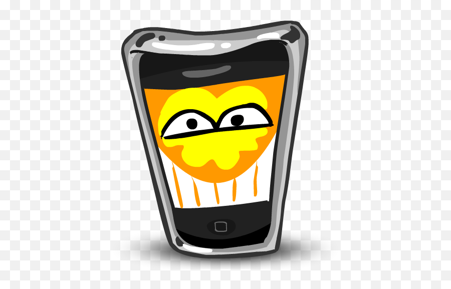 Happy Iphone Funny Cell Phone Mobile Phone Emotion Fun - Iphone Toon Emoji