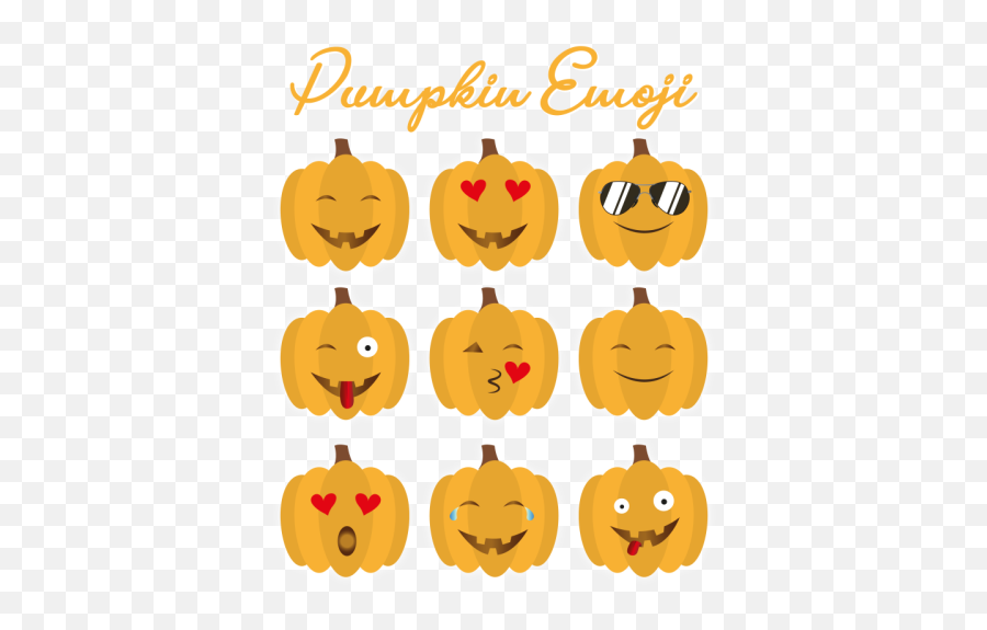 Pumpkin Emoji Celebrate Halloween - Clip Art,Emoji Pumpkin