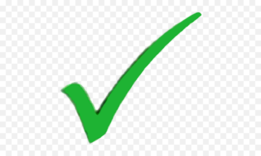 Green Tick Clipart Light Green - Big Green Check Transparent Png Emoji