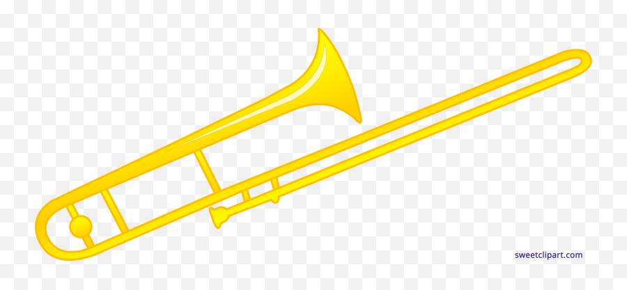 Trombone Vector Black Background - Trombone Clipart Emoji