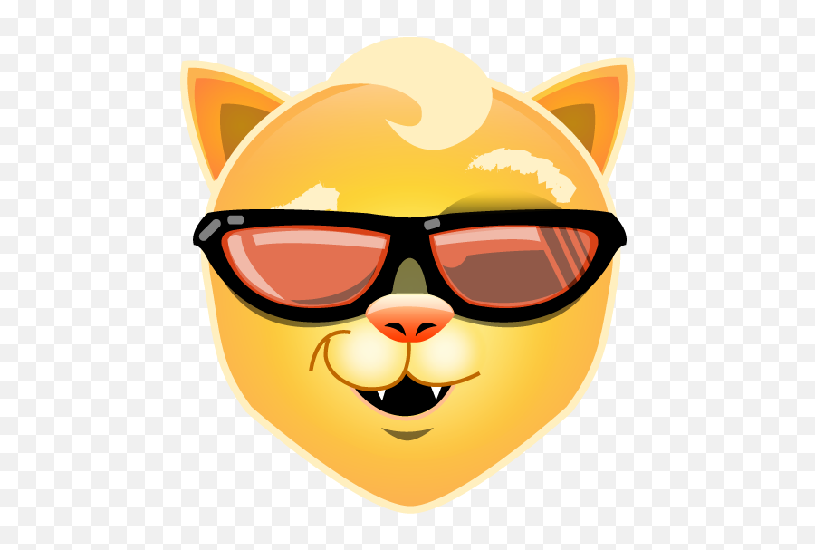 Cool Cat Emoji - Cool Cat Emoji Png,Cat Emoji