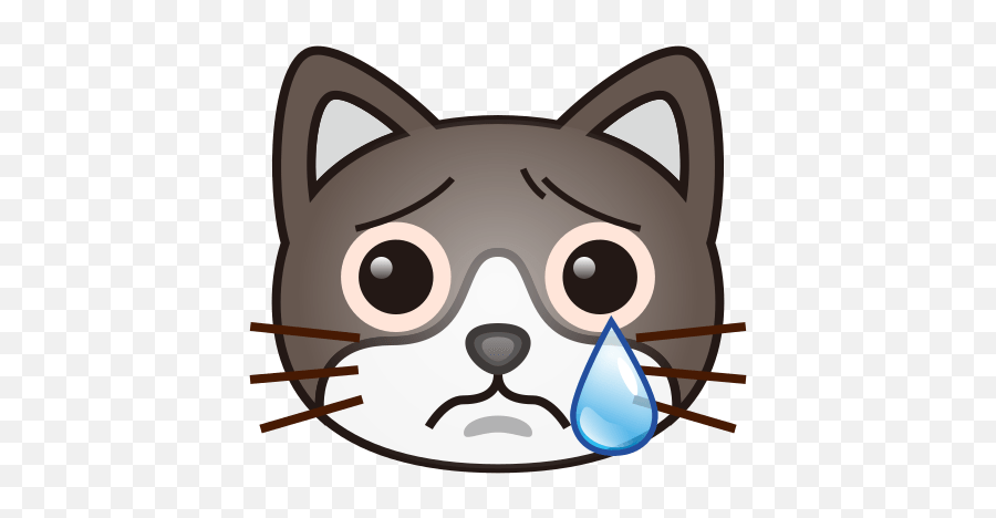 Crying Cat Face Emoji For Facebook Email Sms - Crying Cat Emoji,Cat Face Emoji