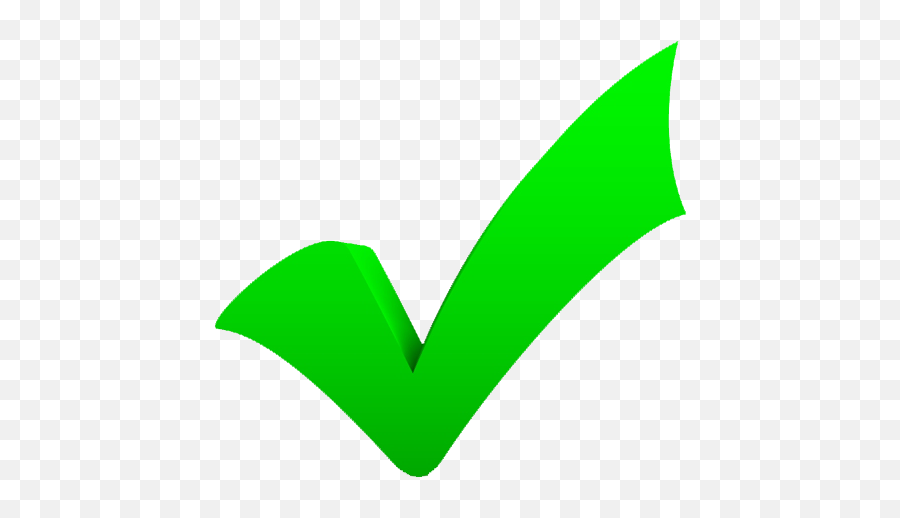 Green Tick Clipart Benefit - Green Check Mark Emoji