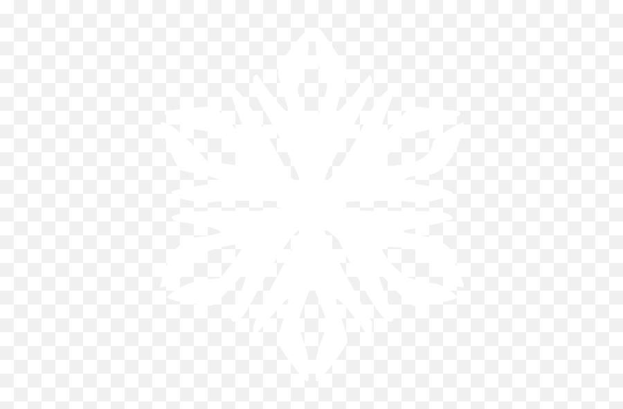 White Snowflake 44 Icon - Emblem Emoji,Snowflake Sun Leaf Leaf Emoji