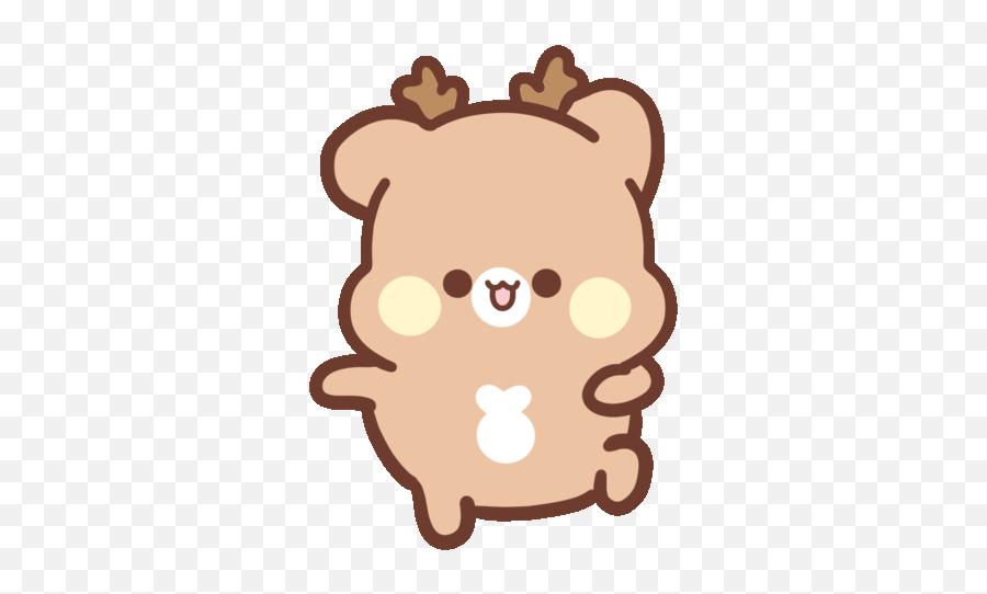 Couple Love Sticker - Tik Tok Cute Gif Emoji,Deer Emoji Iphone