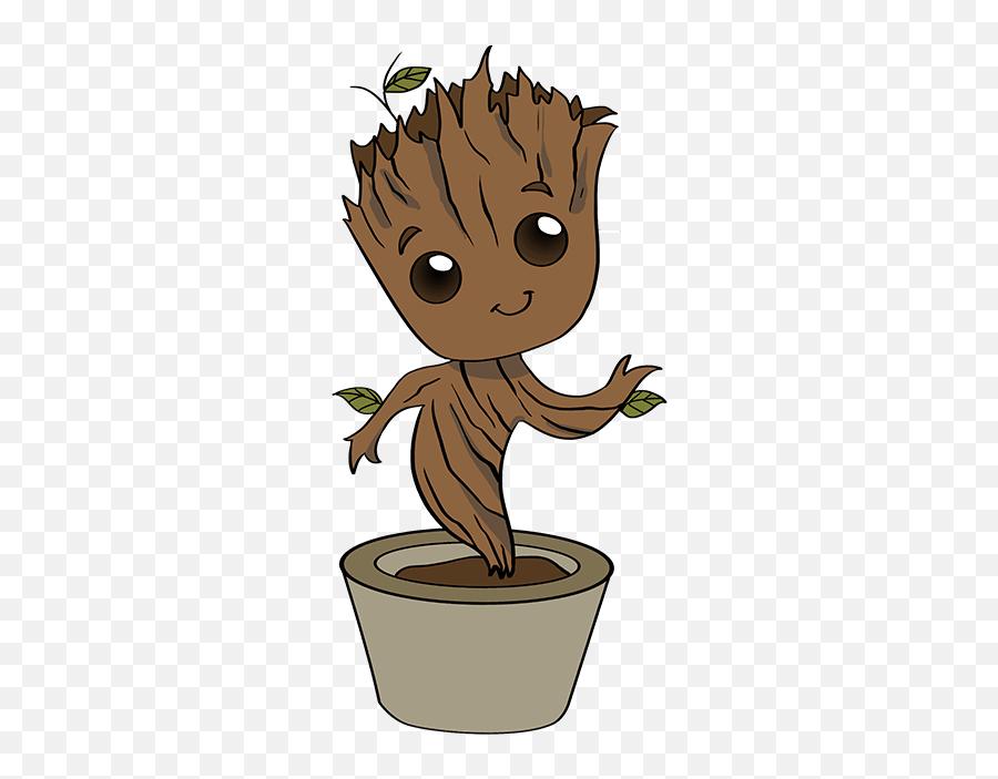 How To Draw Baby Groot - Step By Step How To Draw Groot Emoji,Groot Emoji