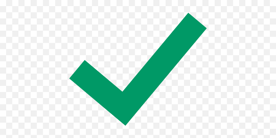 Green Tick Icon At Getdrawings - Transparent Check Mark Icon Emoji