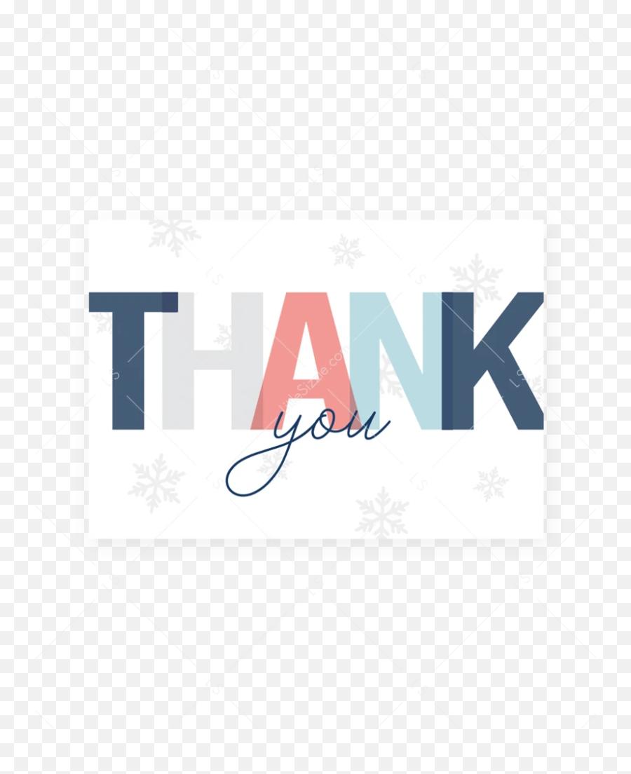 Printable Thank You Card For Winter - Graphic Design Emoji,Snowflake Sun Leaf Leaf Emoji
