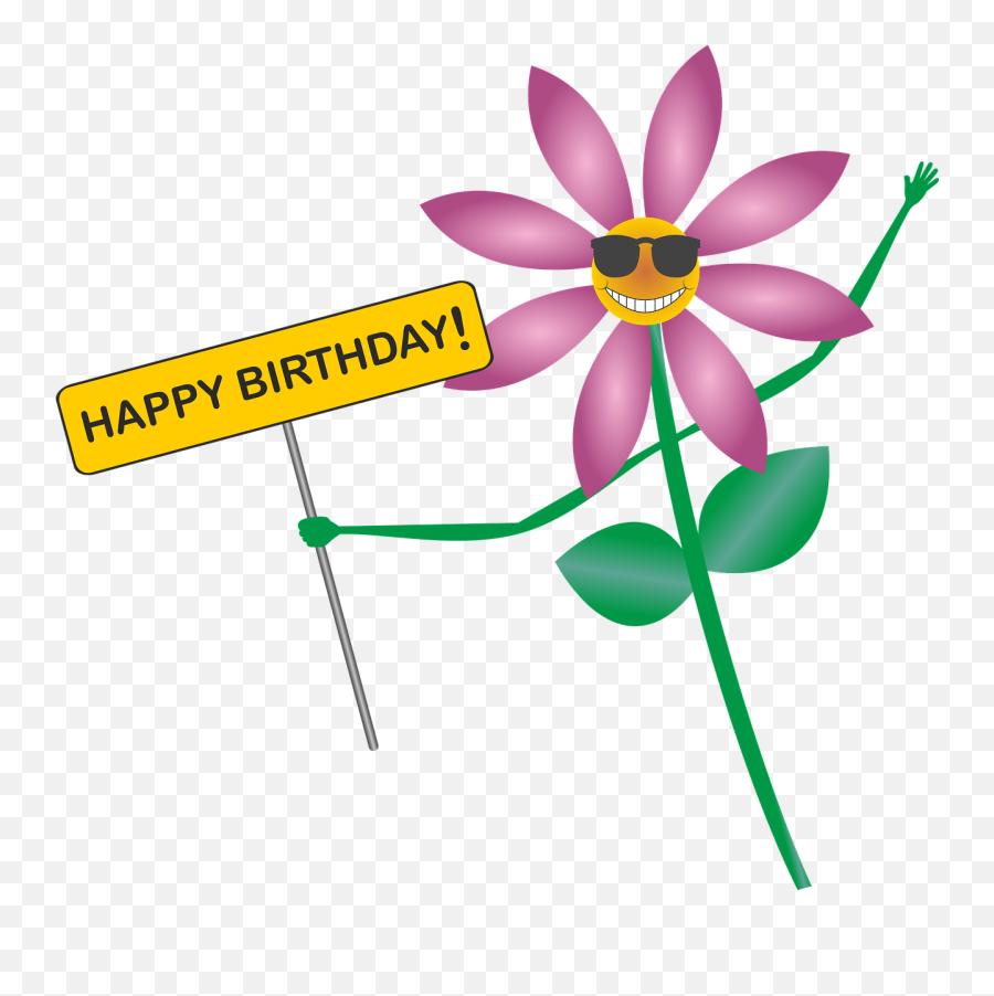 Happy Birthday Birthday Greeting Flower Smile - Flower Clipart Happy Birthday Emoji,Happy Birthday Emoji Texts