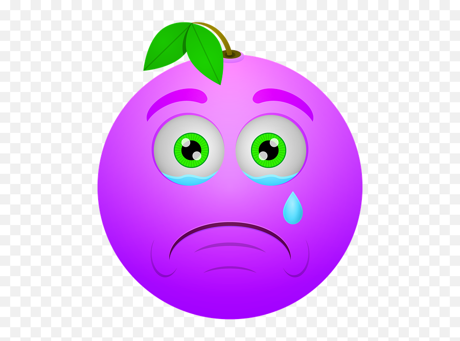 Smiley Berry Sad - Sad Berry Emoji,Laugh Cry Emoji