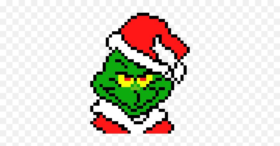 The Grinch - Christmas Pixel Art Grinch Emoji,Grinch Emoticon