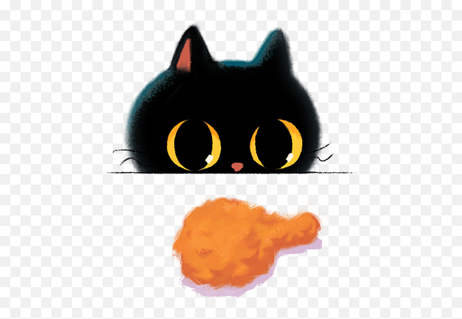 Black Cat Emoji Happy My Ash - Cat Yawns,Cat Emoji