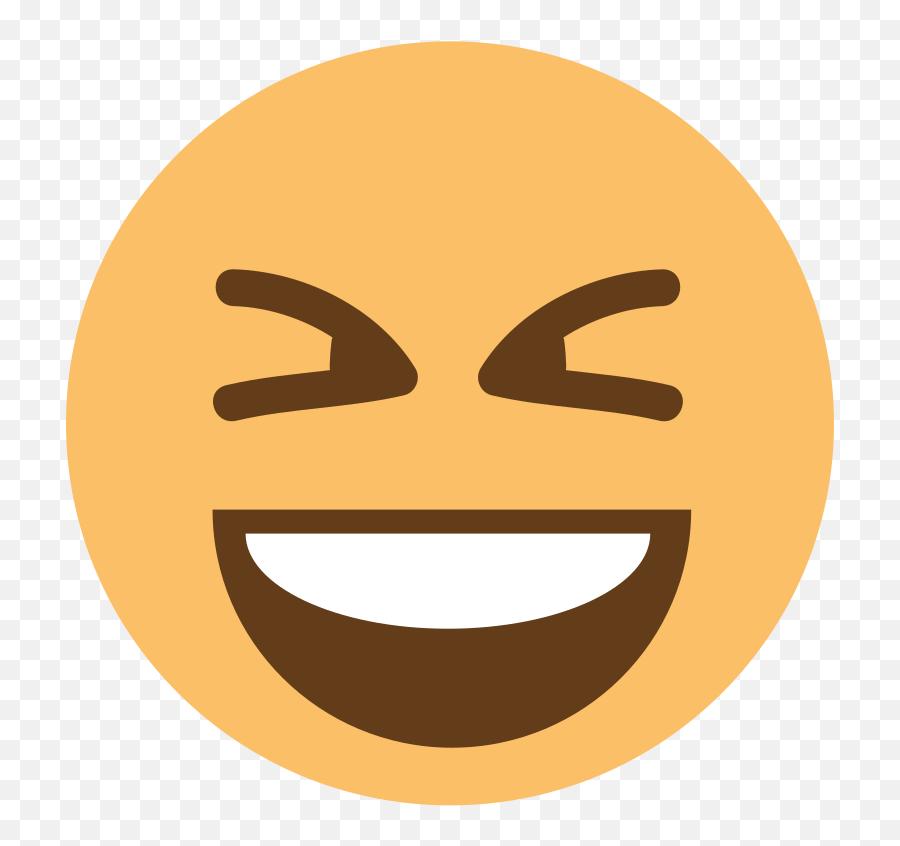 Emojione1 1f606 - Laughing While Crying Emoji Gif,Zip Mouth Emoji