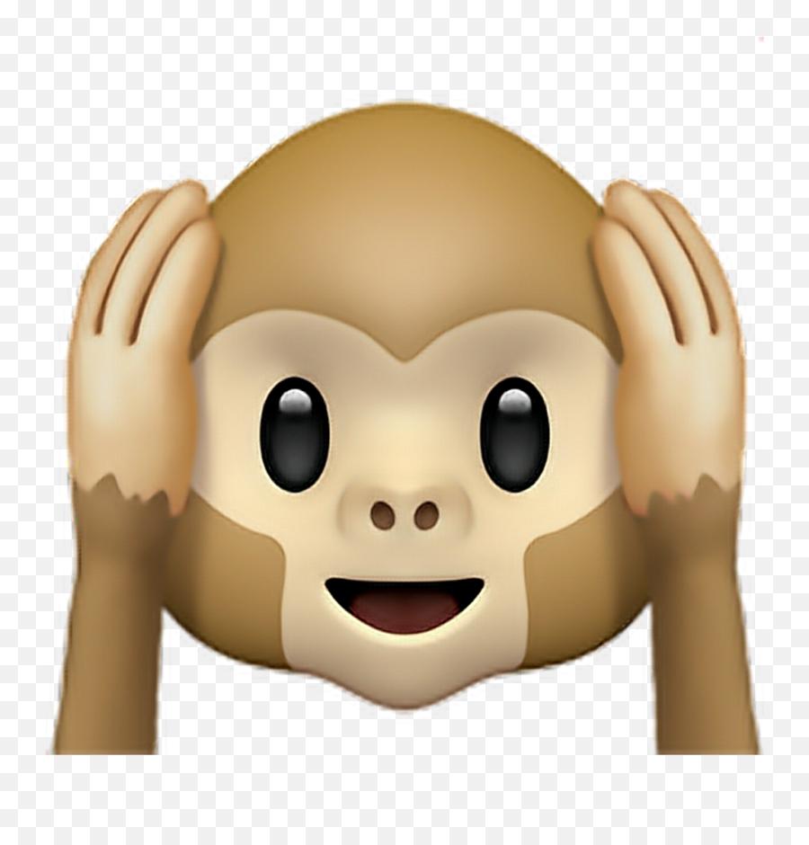 Monkey Ears Emoji Emoticon Iphone - Emoji,Emoji For Iphone