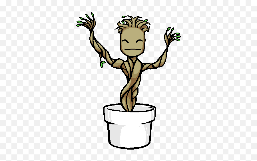 Top Character Nui Stickers For Android Ios - Groot Dancing Gif Png Emoji,Groot Emoji