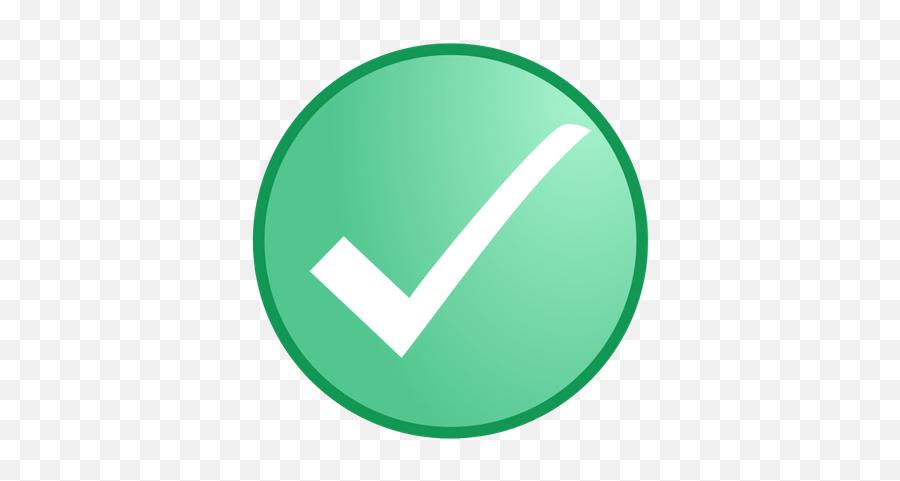 White Check In Green Circle Transparent Png - Circle Emoji