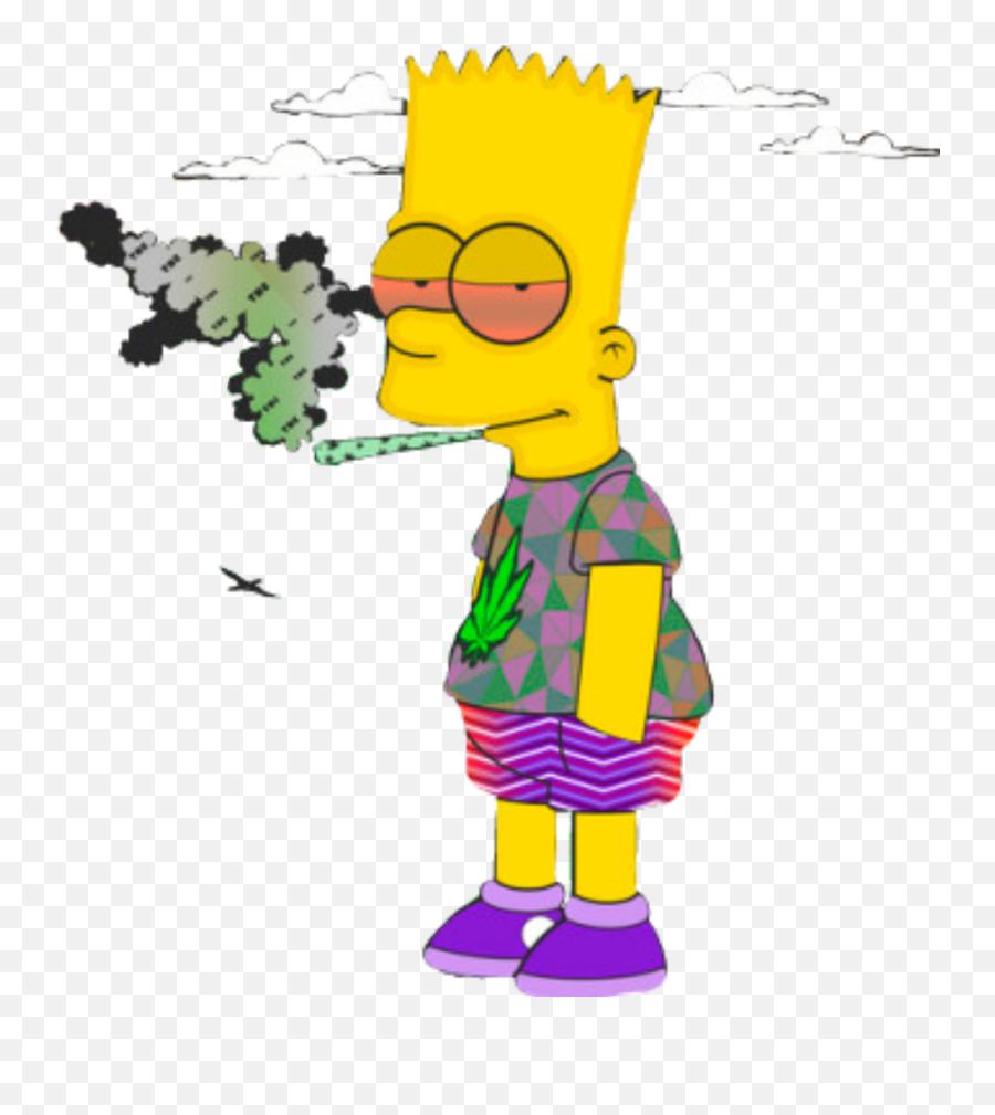 Simpsons Thesimpsons Bartsimpson - Simpson Weed Emoji