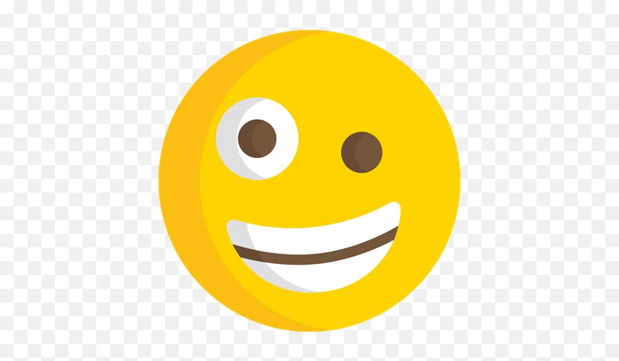 Zany Face Emoji Icon Of Flat Style - Smiley,Joker Emoji