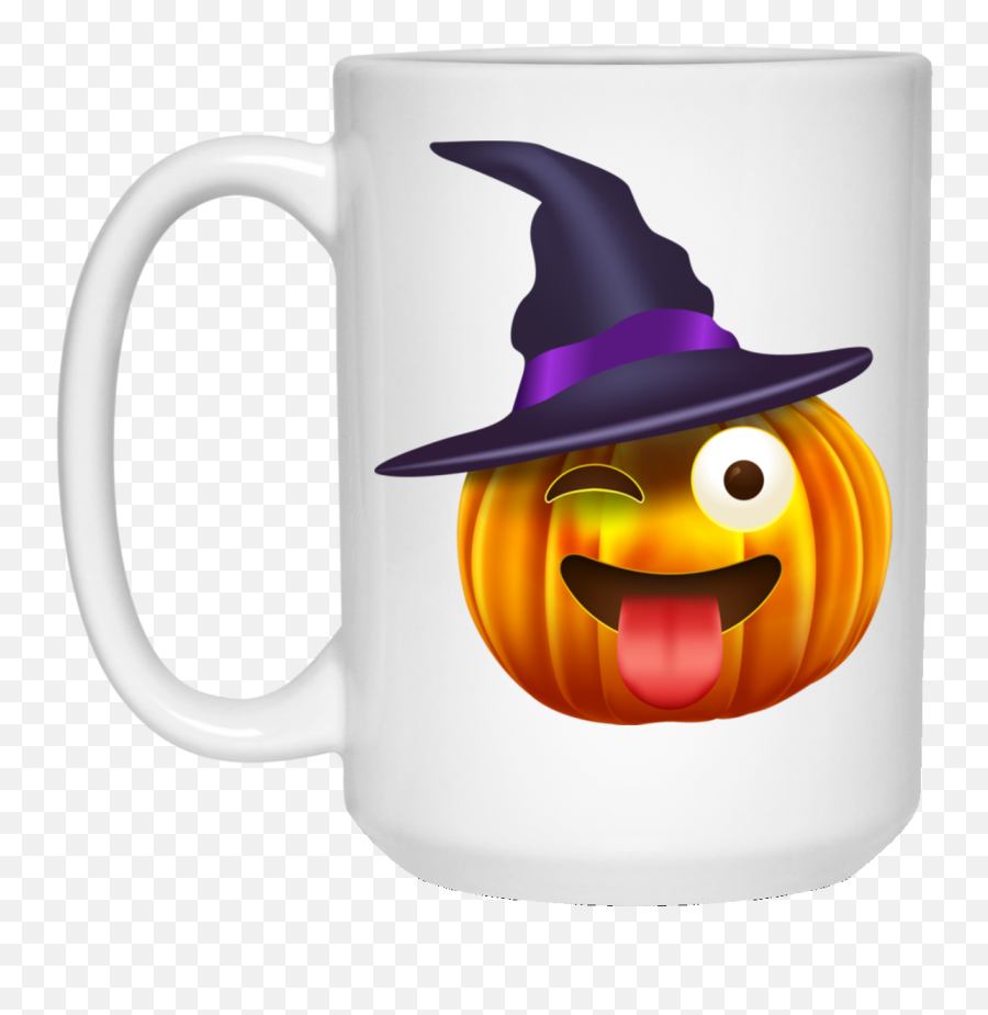 Halloween Costume Emoji Pumpkin Witch Funny Face Gift 15 Oz - Gray Cancer Awareness Ribbons,Emoji Pumpkin