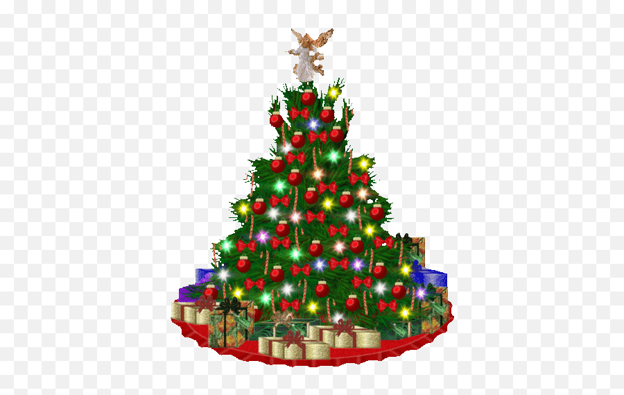 Carol Gif Stickers For Android Ios - Merry Christmas And Happy New Emoji,Christmas Tree Emoticon