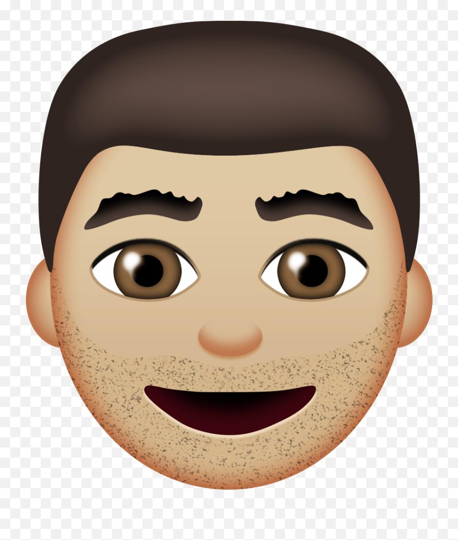 Shrug Fingers Crossed Face Palm - Emoji Man Brown Hair