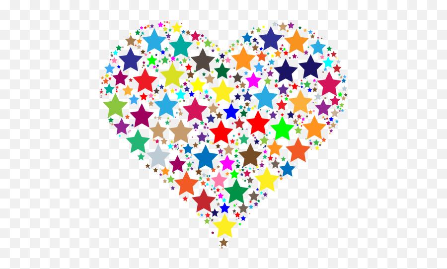 Heart Made Of Stars - Clipart Heart Emoji