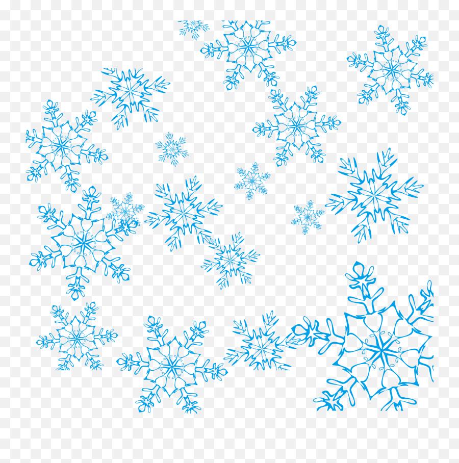 Blue Snowflake Vector Png Download - Transparent Background Snowflake Vector Emoji,Snowflake Sun Leaf Leaf Emoji