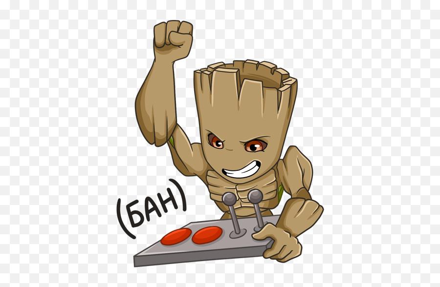 Vk Sticker - Cartoon Emoji,Groot Emoji