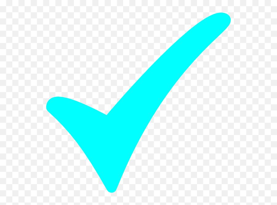 Check Mark Clip Art - Blue Green Check Mark Emoji