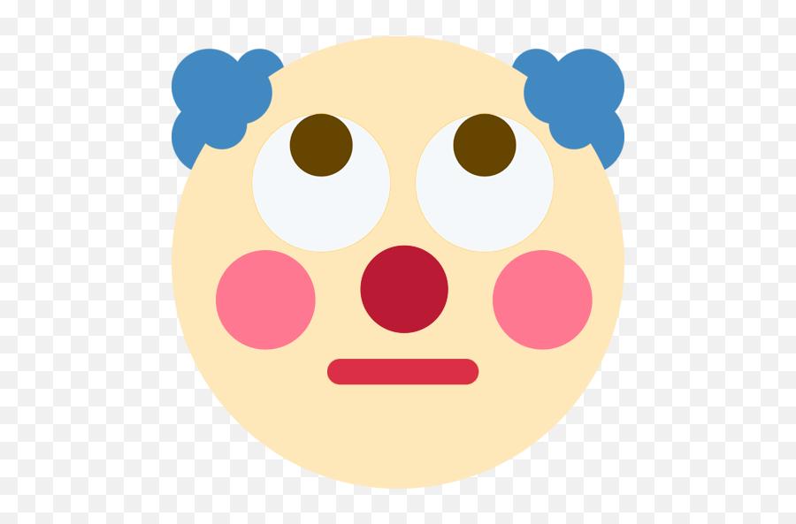 Clownrollingeyes - Pensive Clown Emoji