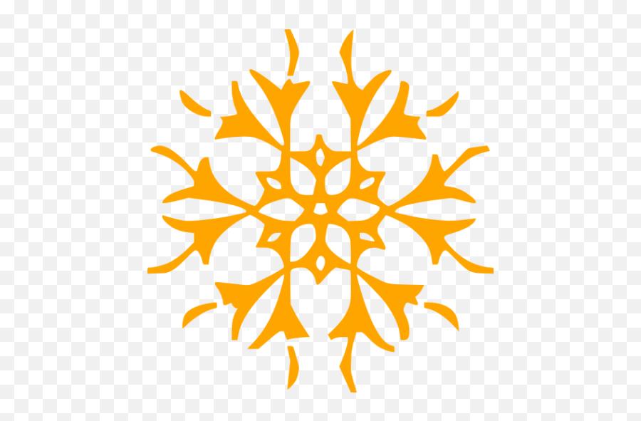 Orange Snowflake 15 Icon - Orange Snowflake Transparent Emoji,Snowflake Sun Leaf Leaf Emoji