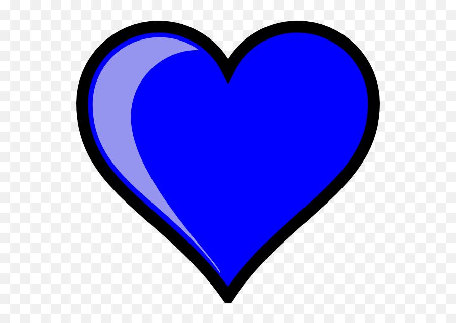 Free Blue Heart Transparent Background - Blue Heart Cartoon Emoji