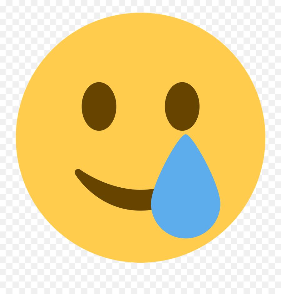 Juneteenth Cry Emoji - Tear Twemoji,Happy Cry Emoticon