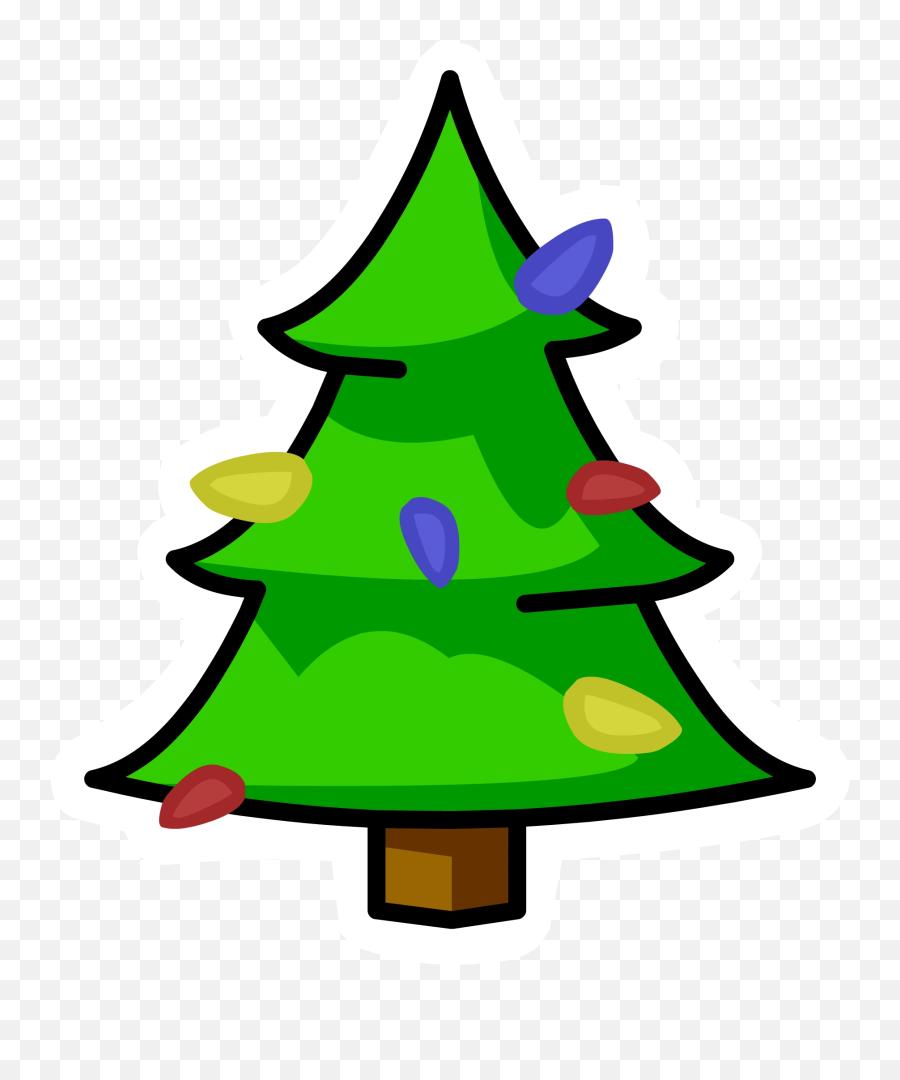 Christmas Tree Pin - Christmas Tree Cartoon Png Emoji,Christmas Tree Emojis