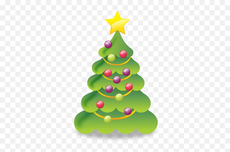 Christmas Icons Free Christmas Icon - Cute Christmas Tree Png Emoji,Christmas Tree Emoticon