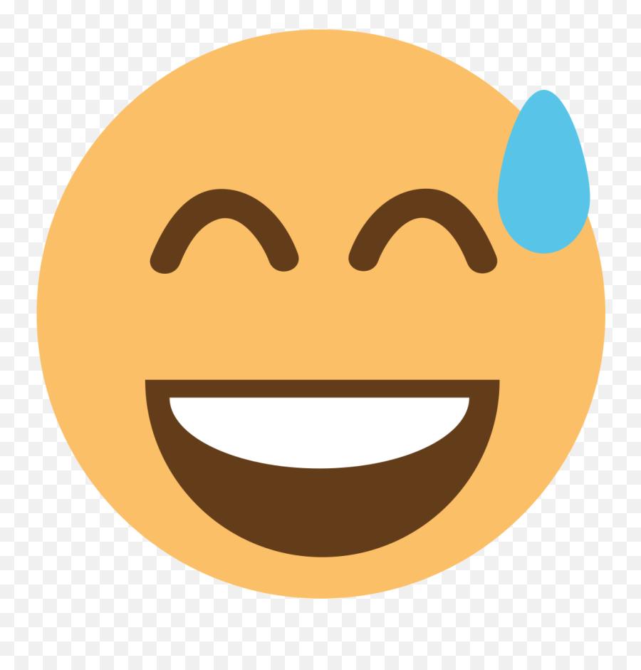 Emojione1 1f605 - Scalable Vector Graphics Emoji