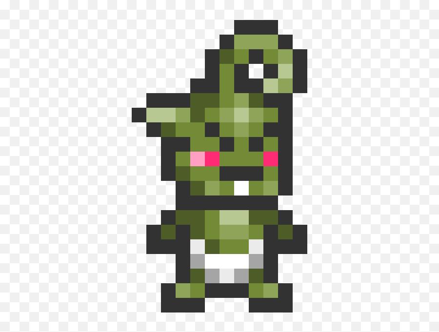 Baby Grinch - Pixel Art Video Game Controller Emoji