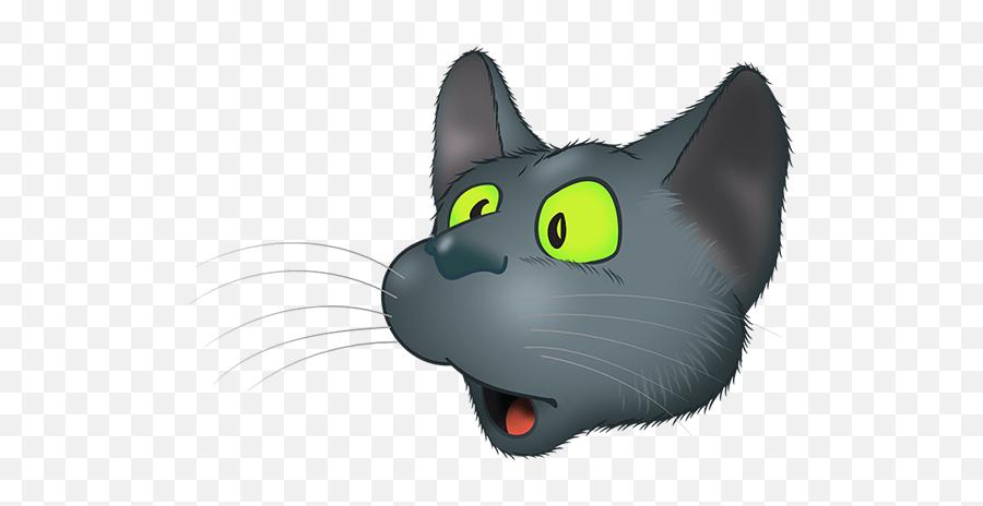 Black Cat Emoji - Cat Yawns,Black Cat Emoji