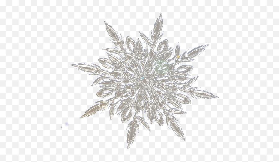 White Crystalline Snowflakes Png - Snowflake Emoji,Snowflake Sun Leaf Leaf Emoji