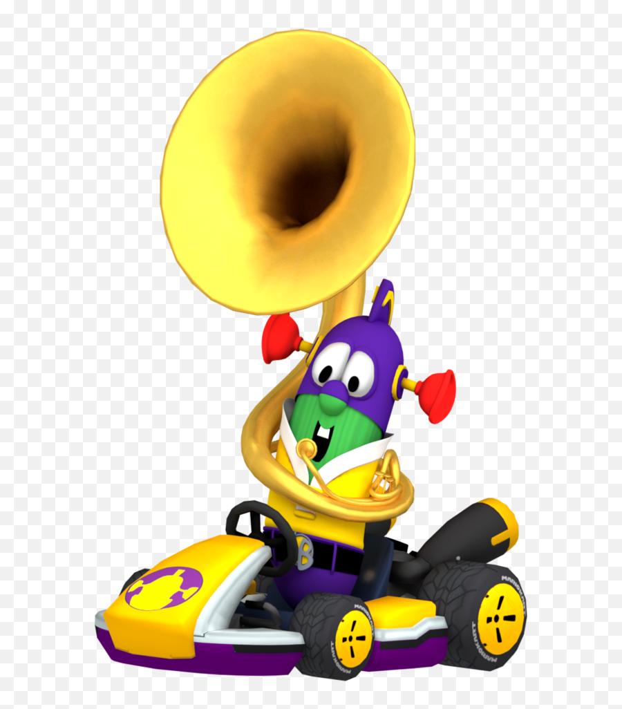 Download Larryboy Playing In Kart - Mario Kart Png Emoji
