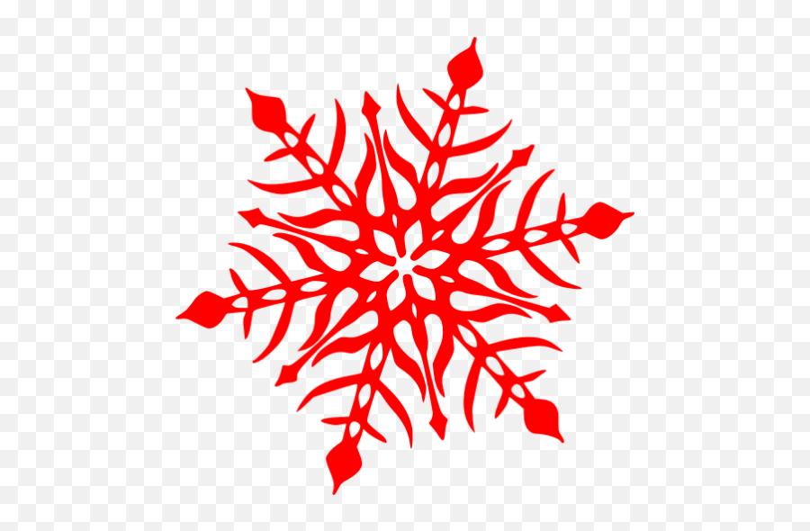 Red Snowflake 47 Icon - Snowflake Clip Art Transparent Emoji,Snowflake Sun Leaf Leaf Emoji