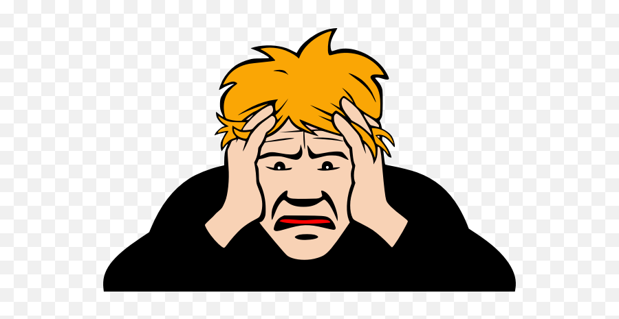 Man With Headache - Worry Png Emoji