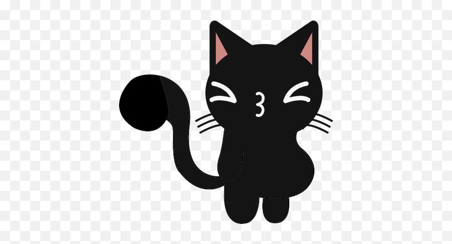 Game Information - Cute Black Cat Cartoon Emoji,Black Cat Emoji