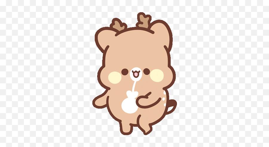 Couple Love Sticker - Sweet House Happy Deer Gif Emoji,Deer Emoji Iphone