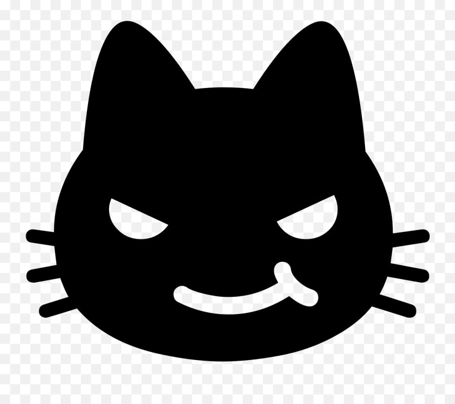 Android Emoji 1f63c - Cat Emoji Black And White