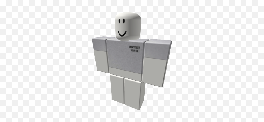 funny donu0027t text your ex crop top - Roblox  Roblox Channel Emoji