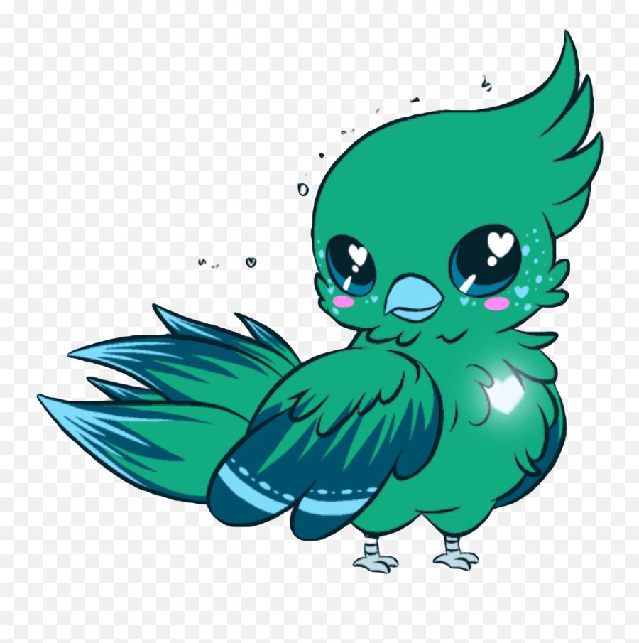 Parrot Kawaii Cute Blue Bird Pirate - Kawaii Birds Emoji